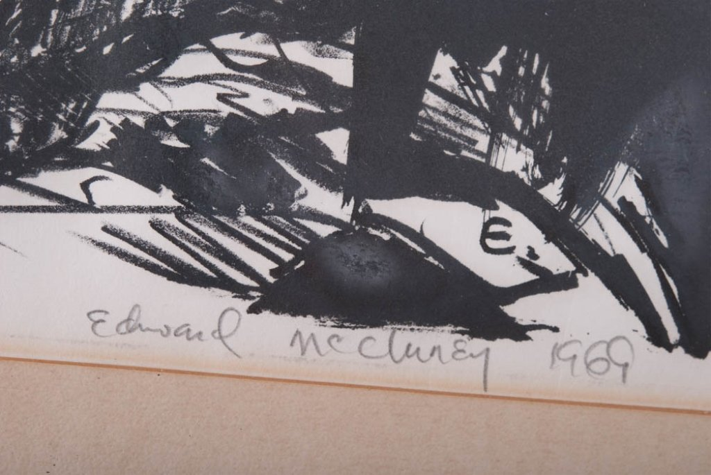 """Edward McCluney Signed Etching """"Day Dreaming"""" - 8"""