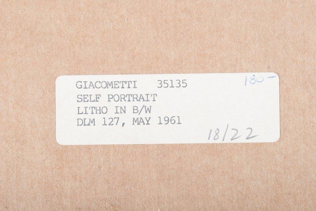 Alberto Giacometti Self Portrait Lithograph - 4