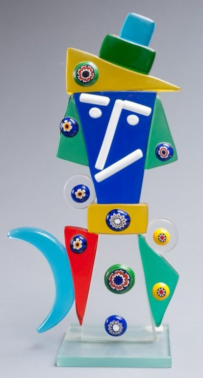 Abstract Figural Glass Sculpture