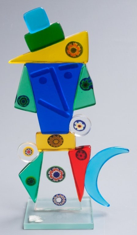 Abstract Figural Glass Sculpture - 4