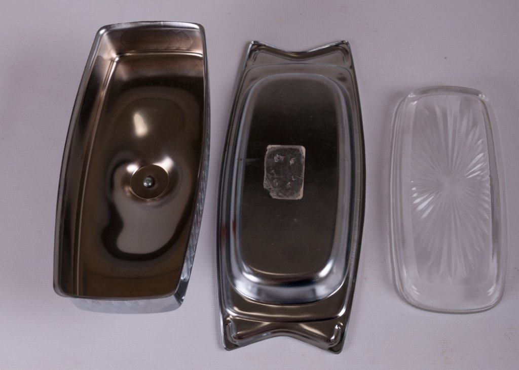 Hellerware Chrome Modern Butter Dish - 5