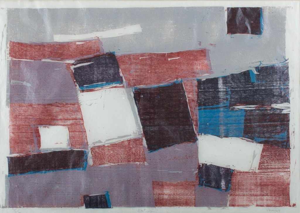 Vera Chaves Barcellos Abstract Litho