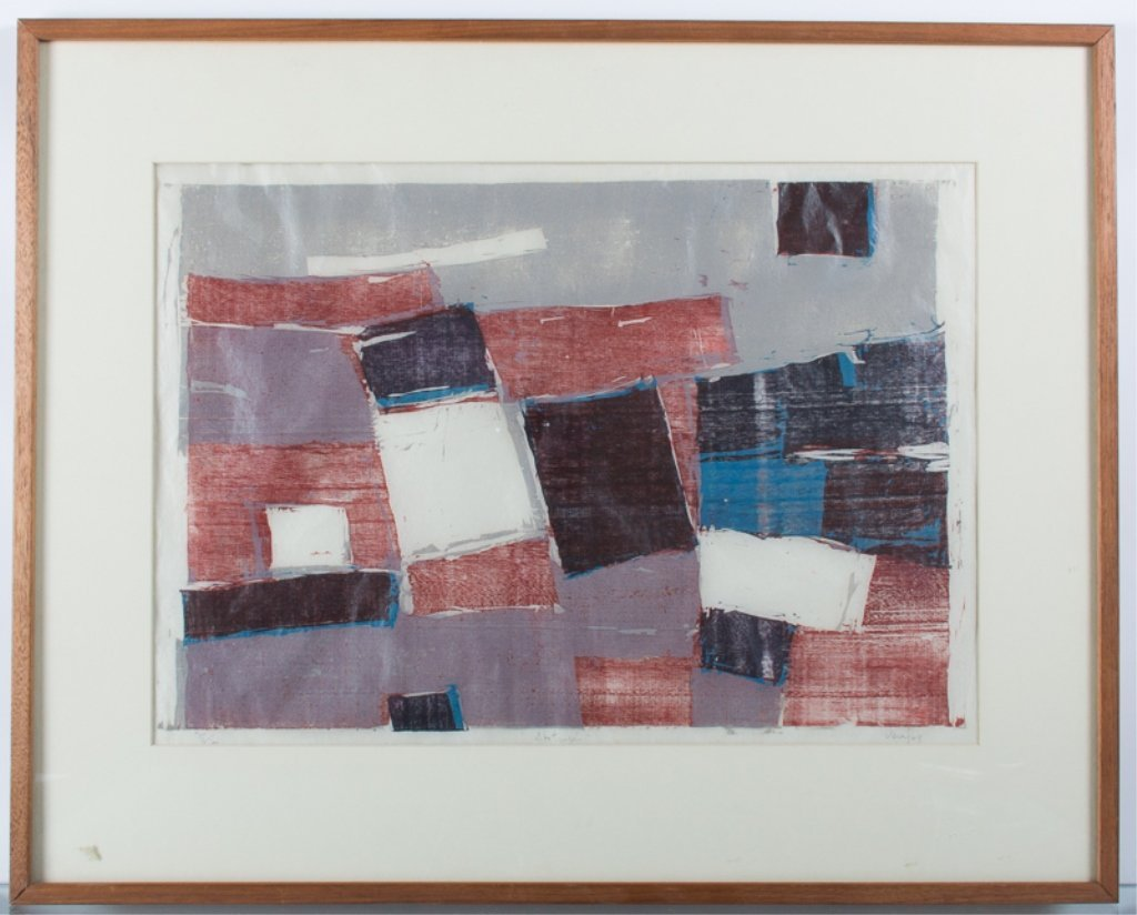 Vera Chaves Barcellos Abstract Litho - 2