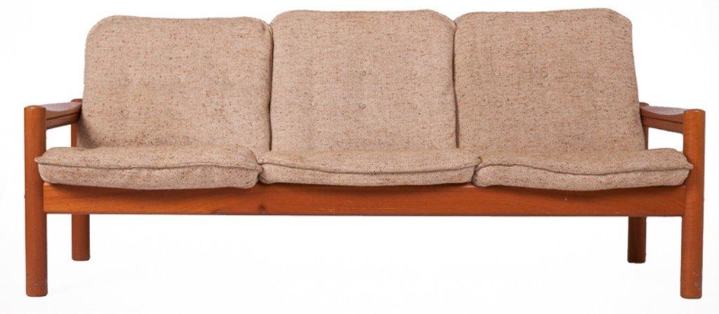 Domino Mobler Danish Teak & Tweed Couch