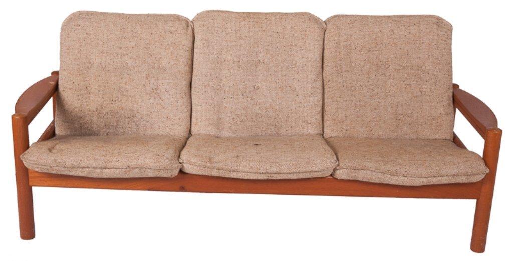 Domino Mobler Danish Teak & Tweed Couch - 2
