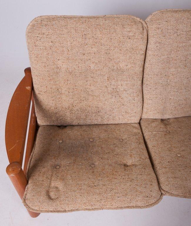 Domino Mobler Danish Teak & Tweed Couch - 3