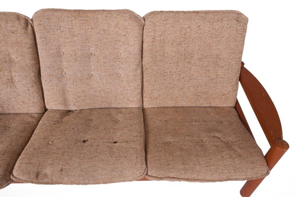 Domino Mobler Danish Teak & Tweed Couch - 4