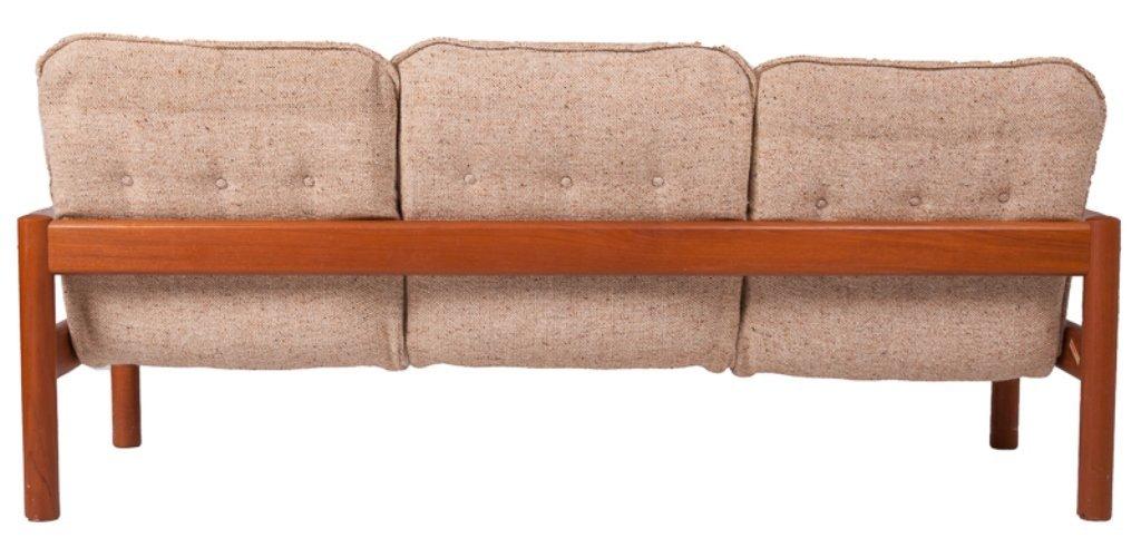 Domino Mobler Danish Teak & Tweed Couch - 6