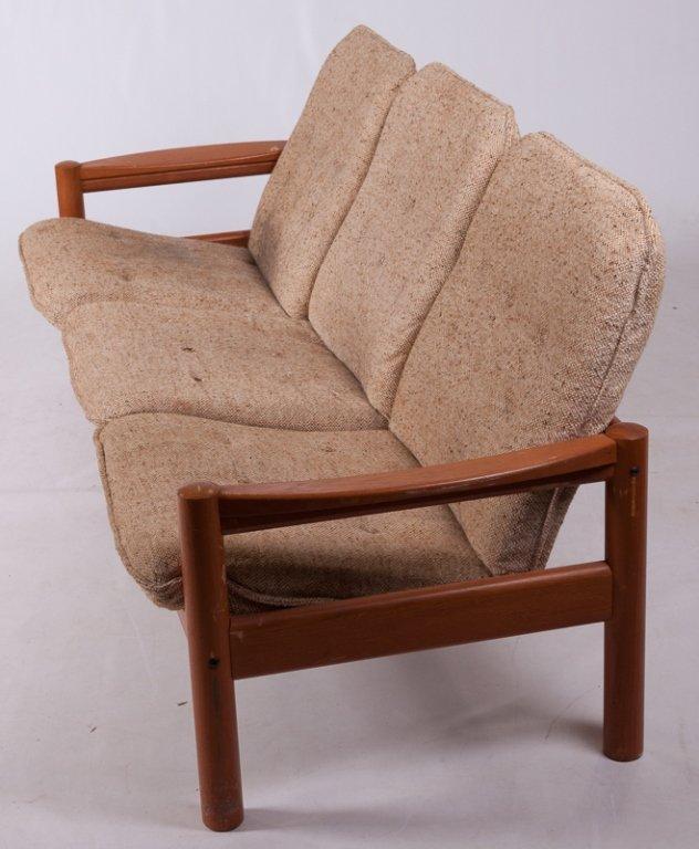 Domino Mobler Danish Teak & Tweed Couch - 8