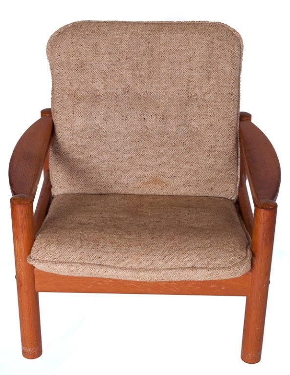 Domino Mobler Danish Teak & Tweed Lounge Armchair
