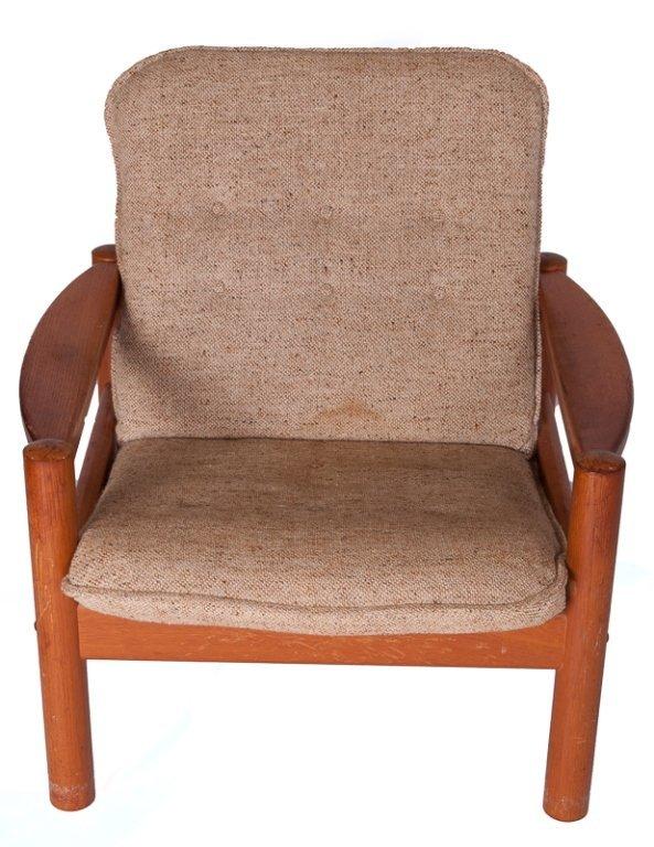Domino Mobler Danish Teak & Tweed Lounge Armchair