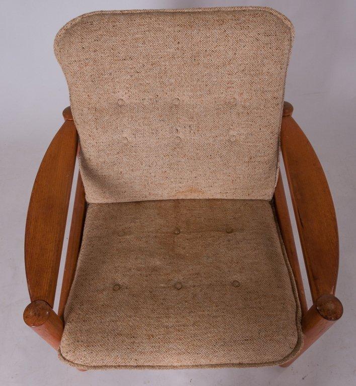 Domino Mobler Danish Teak & Tweed Lounge Armchair - 2