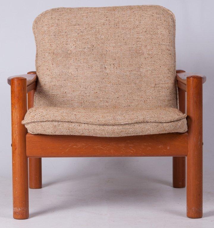 Domino Mobler Danish Teak & Tweed Lounge Armchair - 3