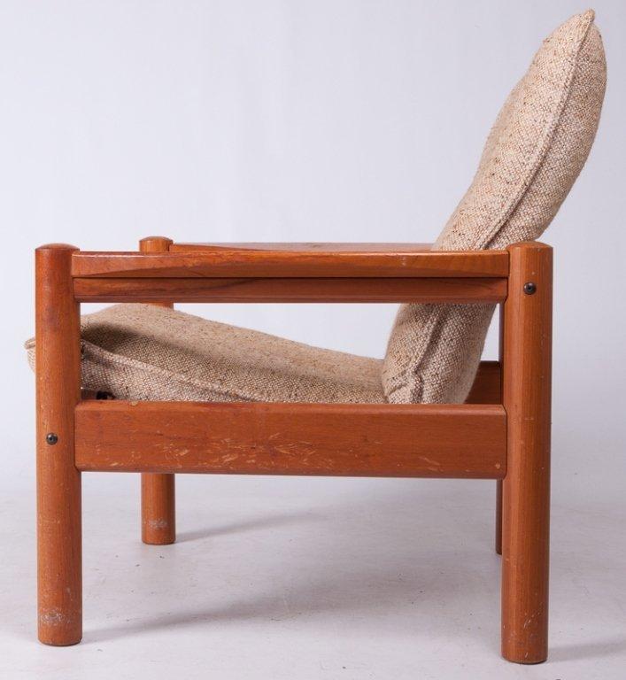 Domino Mobler Danish Teak & Tweed Lounge Armchair - 4