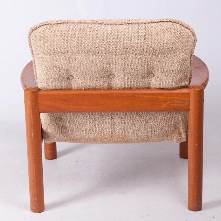 Domino Mobler Danish Teak & Tweed Lounge Armchair - 5