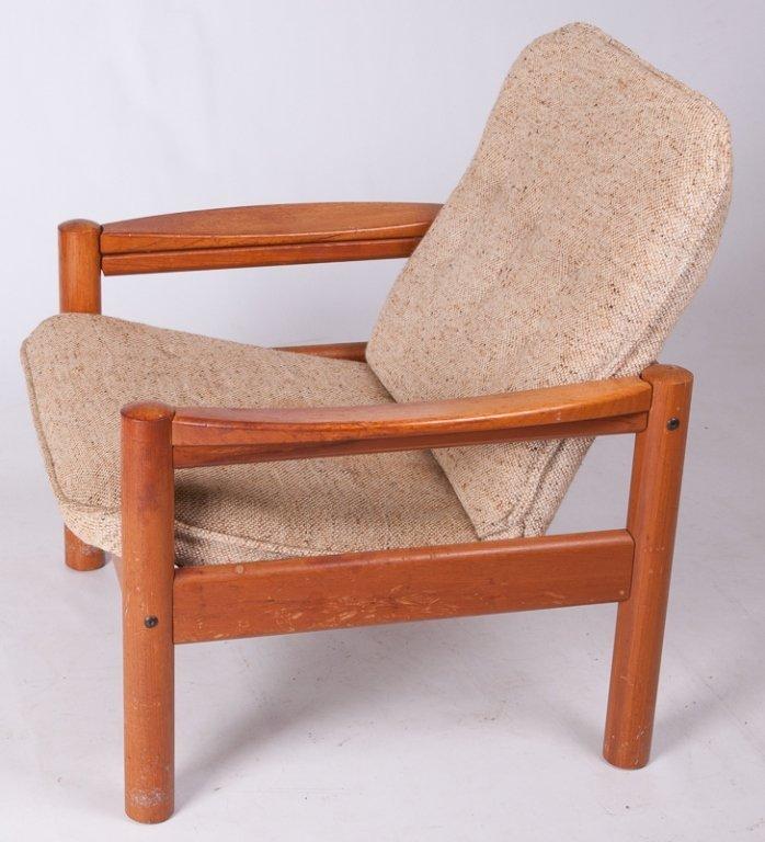 Domino Mobler Danish Teak & Tweed Lounge Armchair - 6