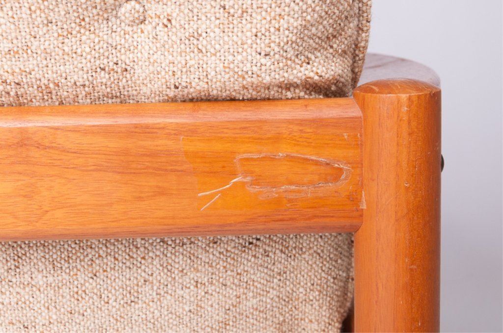 Domino Mobler Danish Teak & Tweed Lounge Armchair - 7