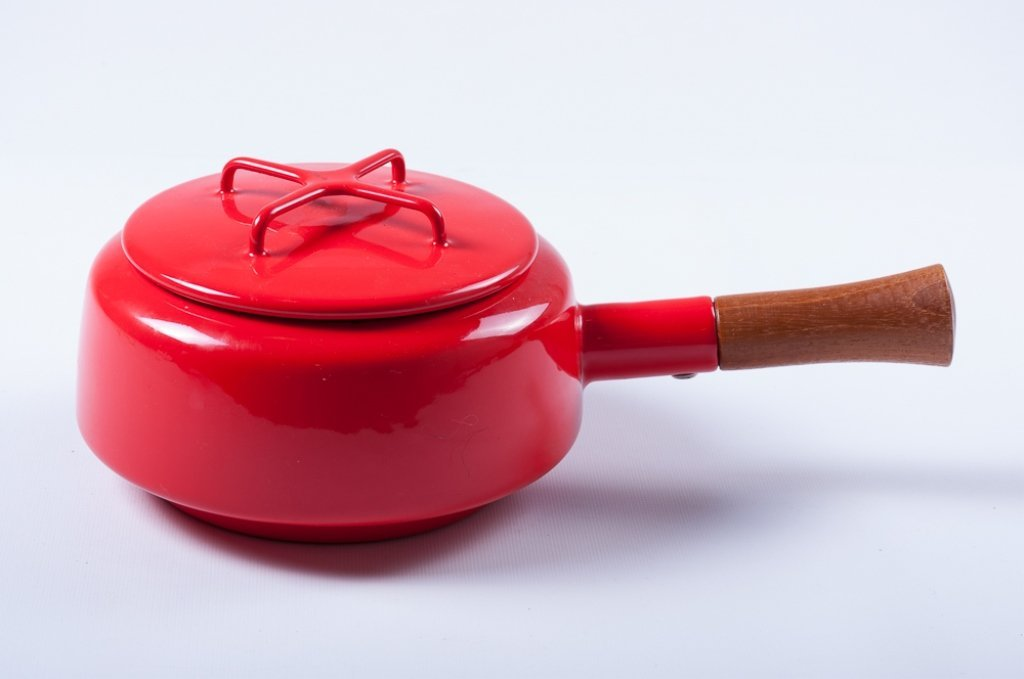 Dansk Kobenstyle Modern Red Enamel Pot w/ Lid