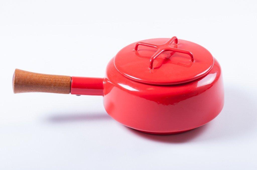 Dansk Kobenstyle Modern Red Enamel Pot w/ Lid - 2