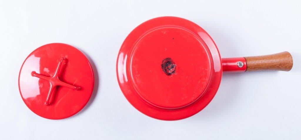 Dansk Kobenstyle Modern Red Enamel Pot w/ Lid - 4