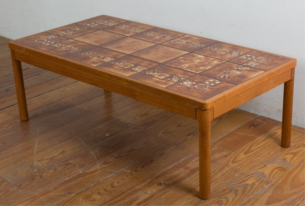 Trioh Danish Teak Tile Top Table