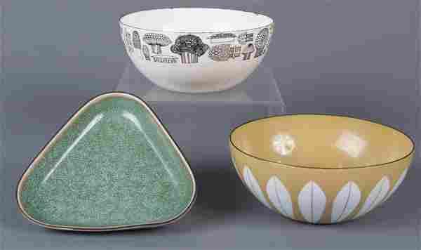 Finel Enamel Bowls & Porcelain Dish