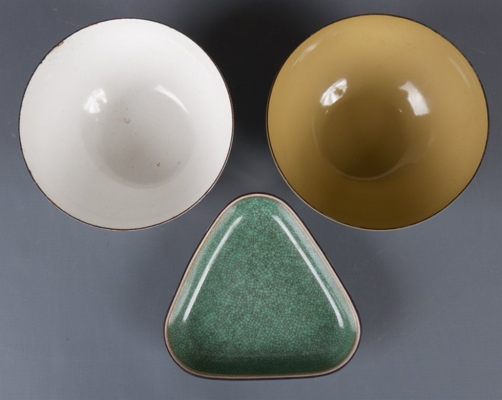 Finel Enamel Bowls & Porcelain Dish - 5