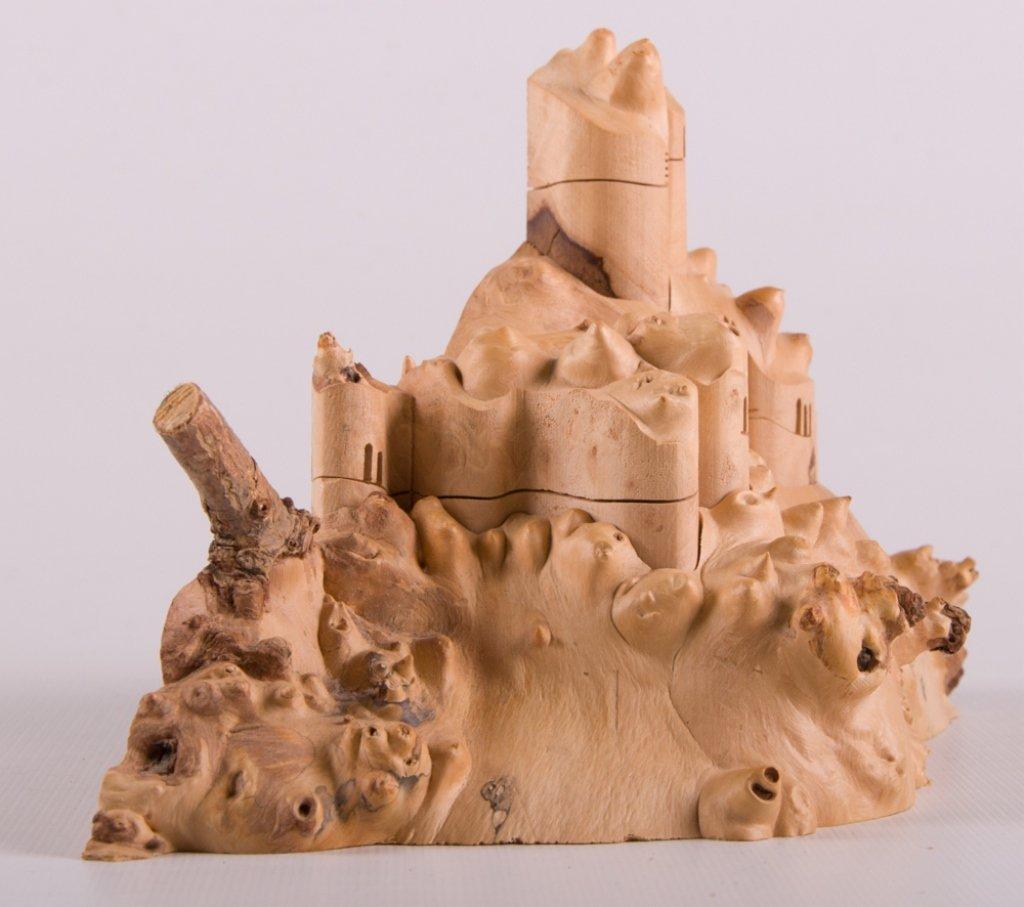 Wood Carved Collapsible Landscape Sculpture - 4