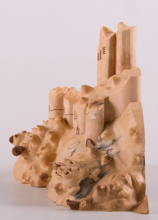 Wood Carved Collapsible Landscape Sculpture - 5