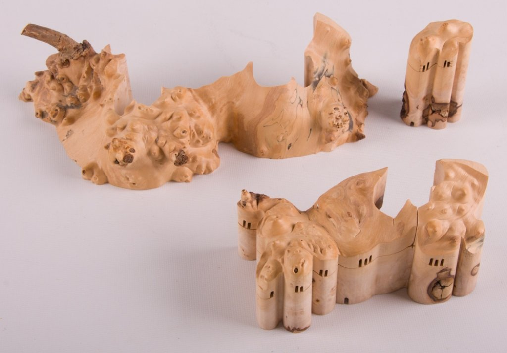Wood Carved Collapsible Landscape Sculpture - 6