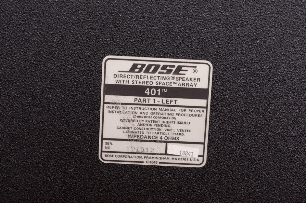 Bose 401 Direct/ Reflecting Speakers, Pair - 8