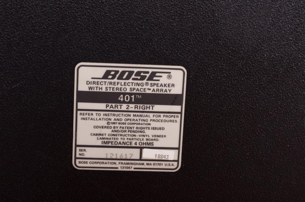 Bose 401 Direct/ Reflecting Speakers, Pair - 9