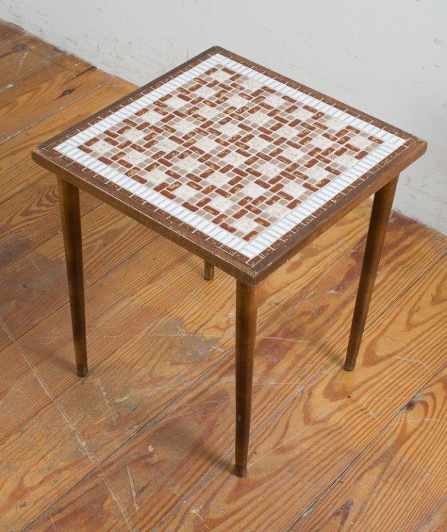 Modern Mosaic Tile Top Table