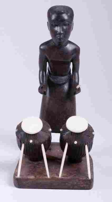 Vivaldo Santos Wood Carved Figure