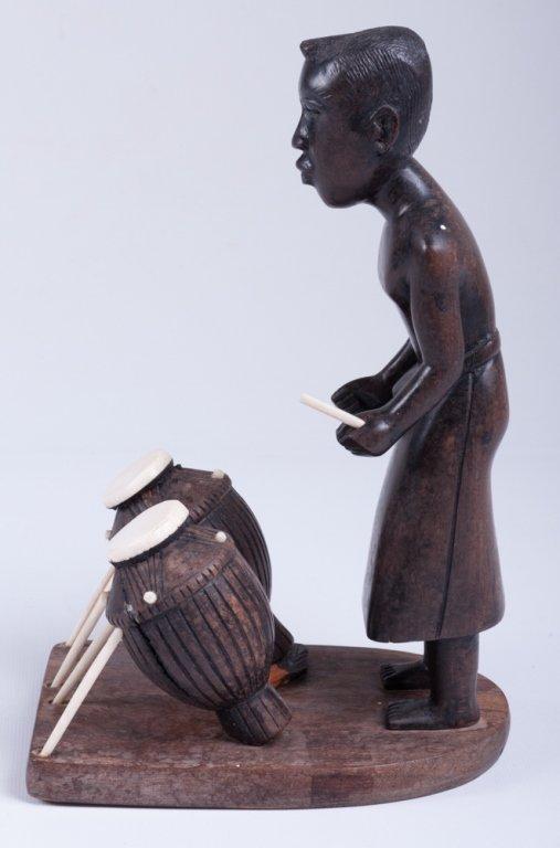 Vivaldo Santos Wood Carved Figure - 2