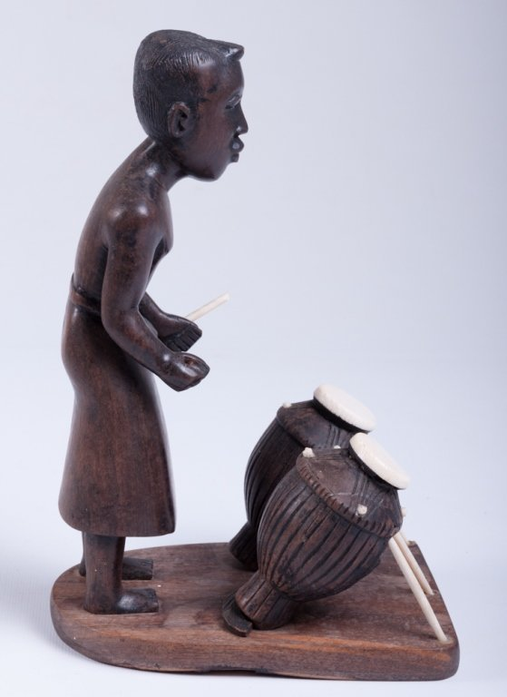 Vivaldo Santos Wood Carved Figure - 4