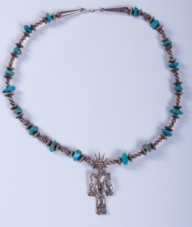 Sterling Native American Necklace - 5