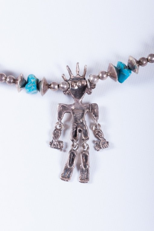 Sterling Native American Necklace - 7