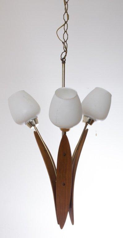 Danish Teak Light Fixture