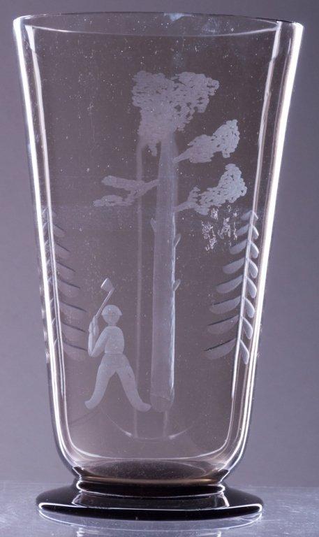 Karhula Finnish Art Glass Vase