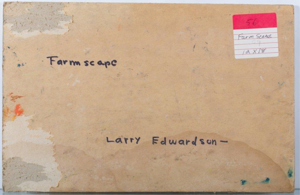 "Larry Edwardson ""Farmscape"" Oil on Board - 2"