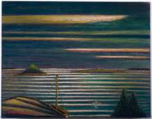 "Larry Edwardson ""Stormy Weather..."" Oil on Board"