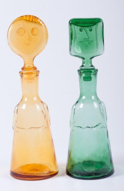 Erik Hoglund Modern Figural Glass Bottles, Two (2) - 2