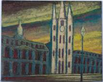Larry Edwardson Cathedral-Basilica Oil on Board