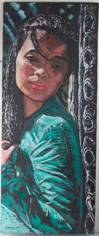 Evelyn Metzger Oil of Thai Woman w/ Biography - 2