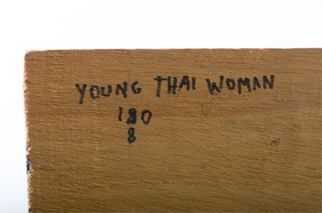 Evelyn Metzger Oil of Thai Woman w/ Biography - 6