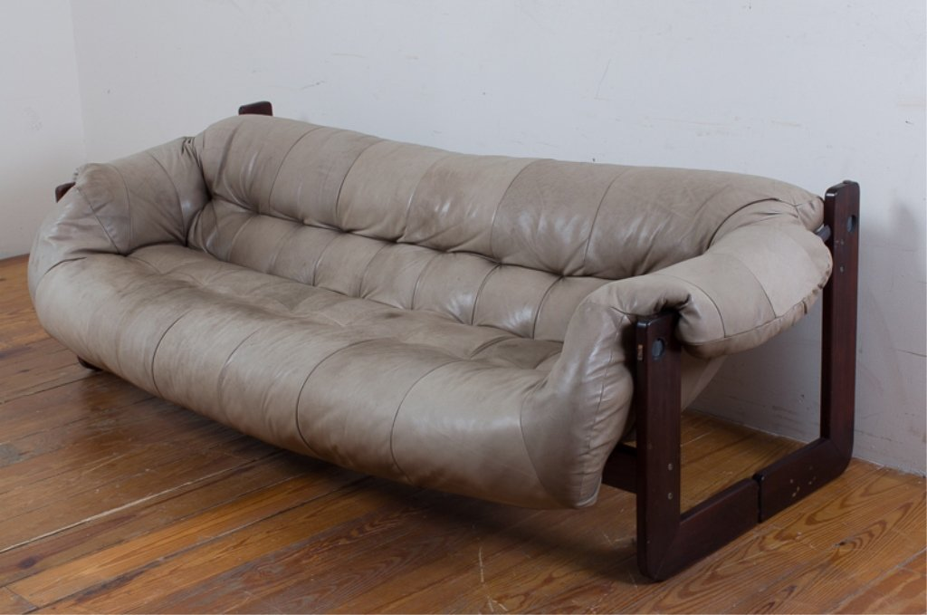 Percival Lafer Leather Sofa
