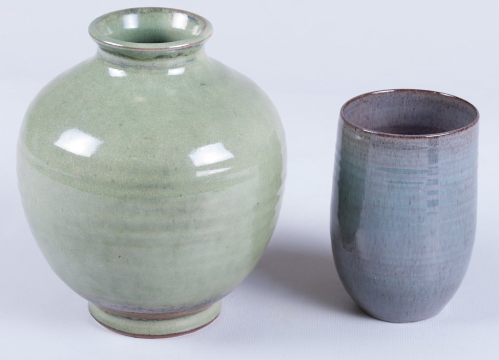 Scheier Pottery Vase & Cup - 3