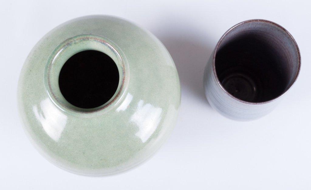 Scheier Pottery Vase & Cup - 4