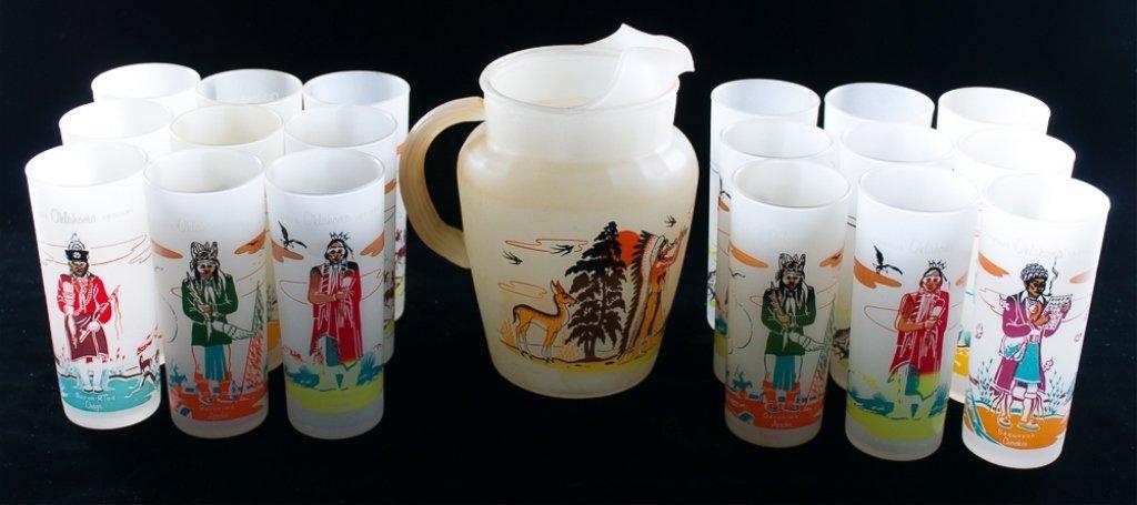 Blue Eagle Famous Oklahoma Indians Glassware, 19